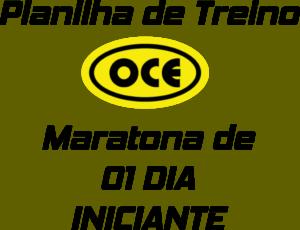 Planilha OCE - Maratona 01 Dia Iniciante
